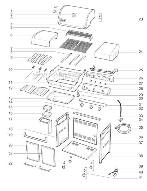 weber genesis e 310 weber 6650001 parts list and diagram ereplacementparts com