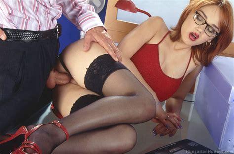 Secretary Lenka Gaborova Receives Her Bosss Stiff Cock