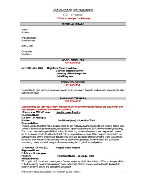 resume description resume cover letter template
