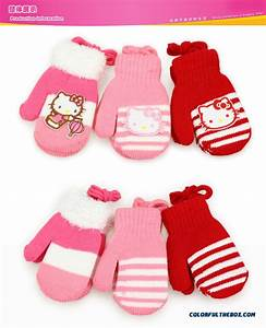 Cheap Hellokitty Kids Warm Winter Gloves Baby Kids Gloves