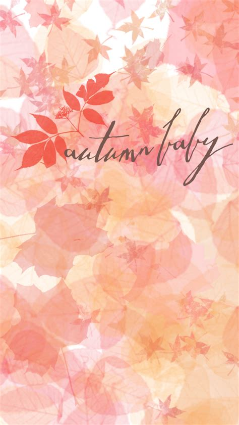 Pretty Fall Wallpaper Iphone 7 by Autumn Baby Leaves Iphone Wallpaper Background Lock Screen
