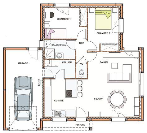 plan maison moderne 5 chambres plan maison plain pied 2 chambres maison moderne