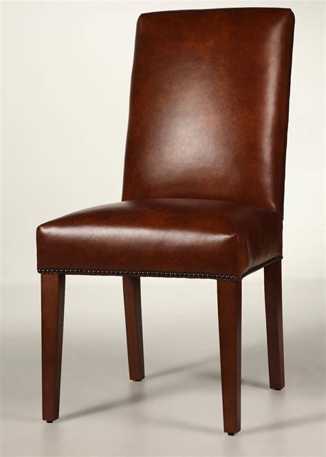 Back Chair by Back Leather Dining Chair With Tapered Legs