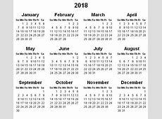 Yearly Calendar 2018 2018 calendar with holidays