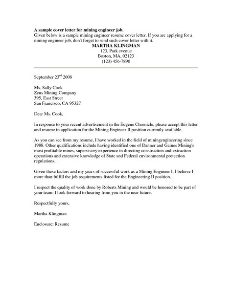 cover letter sample  sample job cover letter