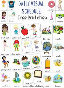 daily visual schedule for kids free printable natural With what kind of paint to use on kitchen cabinets for label stickers for printing