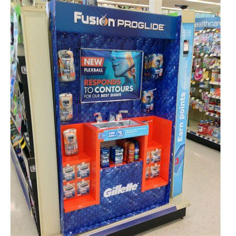 Gillette End Cap Display Responds To Contours at Walgreens ...