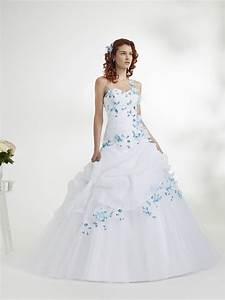 robe mariee bleu et blanche le son de la mode With robe blanche et bleu