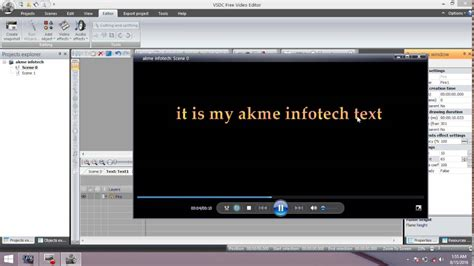 text effects    vsdc  video editor