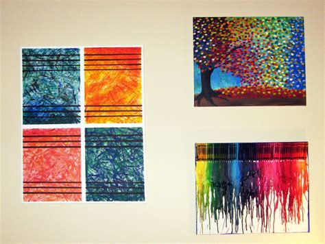 Graceful Wall Decor With Luring Painting Of Trees Also