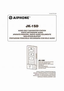 Aiphone Jk Dv Installation Manual