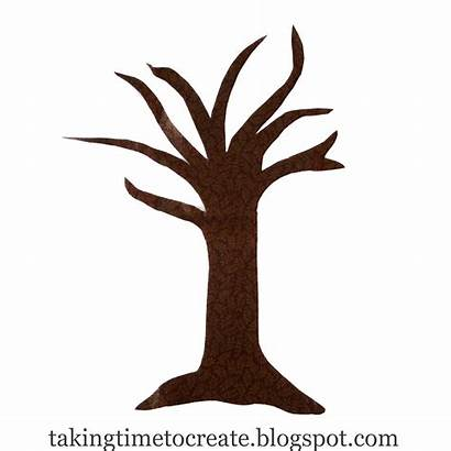 Tree Trunk Clipart Outline Bare Leafless Clip