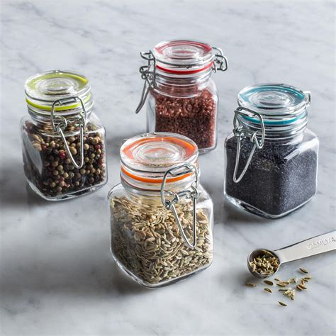 Kitchen Jars Canada by Ksp Colour Splash Glass Spice Jars Set Of 4 Multi
