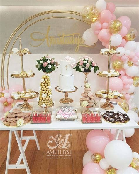 trims  gold dessert props package amethyst wedding