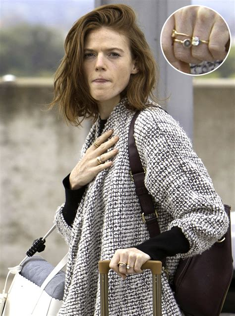 actor rose game of thrones crossword rose leslie wears engagement ring from kit harington