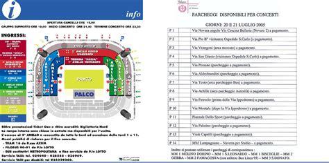Mappa San Siro Ingressi U2 In Italia Vertigo Tour 2005 Roma U2place