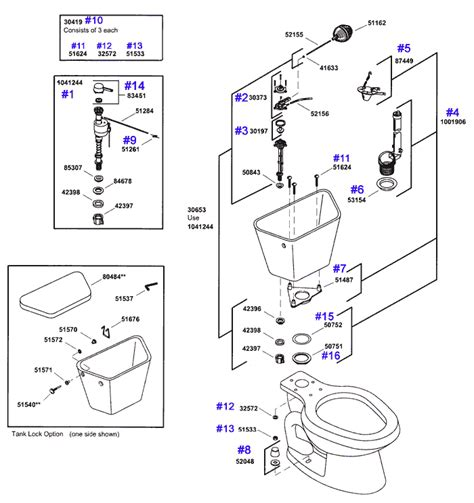 Kohler Wellworth Toilet Repair Parts For 4500 Series Toilets