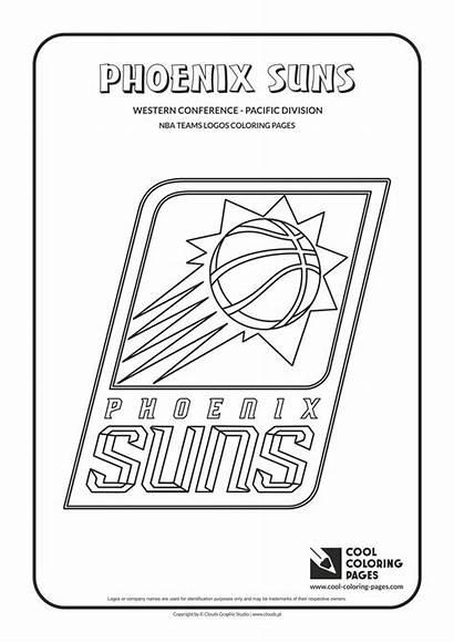 Coloring Nba Pages Basketball Logos Cool Teams