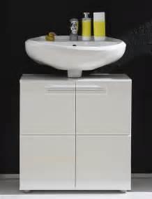 meuble sous lavabo de salle de bain design laque blanc With lavabo design salle de bain