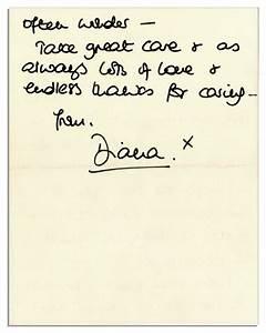 Lot detail princess diana 1992 autograph letter signed for Autograph letters