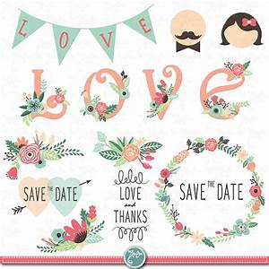 wedding clipart pack wedding floral clip art With wedding invitation flower clipart free