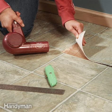 linoleum flooring repair repair vinyl flooring patch damaged flooring the family handyman