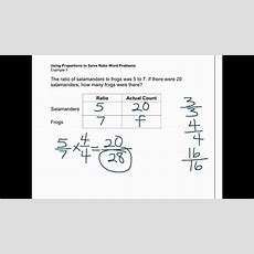 Proportions Solve Ratio Word Problems Youtube