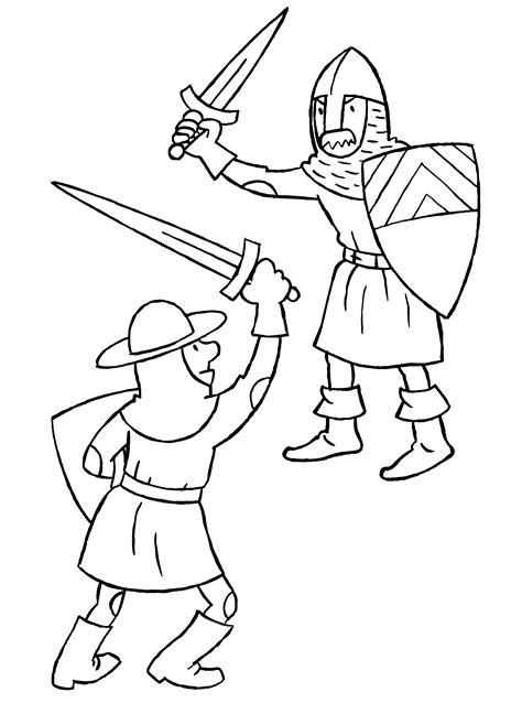 Kleurplaat Ridder En Jonkvrouw by Kleurplaten Paradijs Kleurplaat Twee Vechtende Ridders