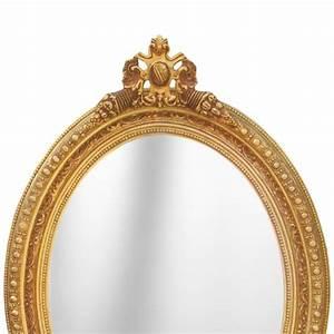 Grand Miroir Baroque : grand miroir ovale baroque de style louis xvi ~ Teatrodelosmanantiales.com Idées de Décoration
