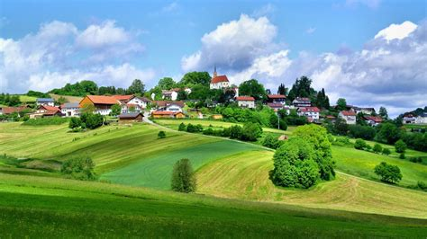 village   countryside hd wallpaper background image