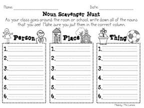 nouns for worksheets step into 2nd grade with mrs lemons nouns and mudge