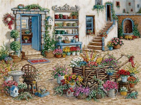 janet krusk s courtyard flower shoppe original