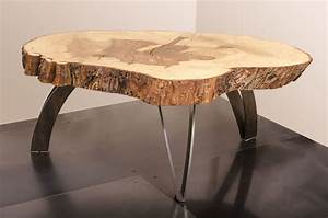 hand made coffee table live edge maple weathered steel With maple live edge coffee table