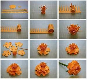 Craft Paper Flowers Making Step By Step | find craft ideas