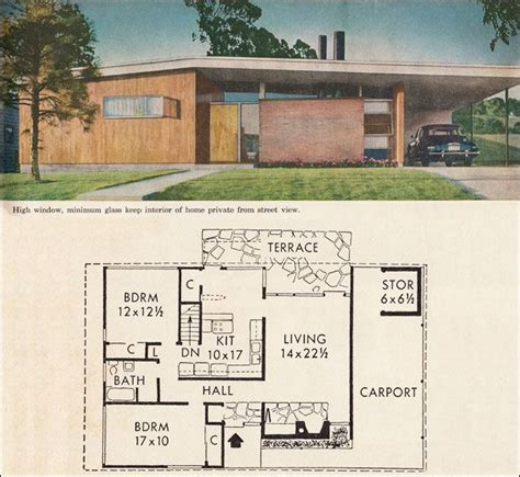 better house plans mid century california modern house plan better homes garden five mid century house plans