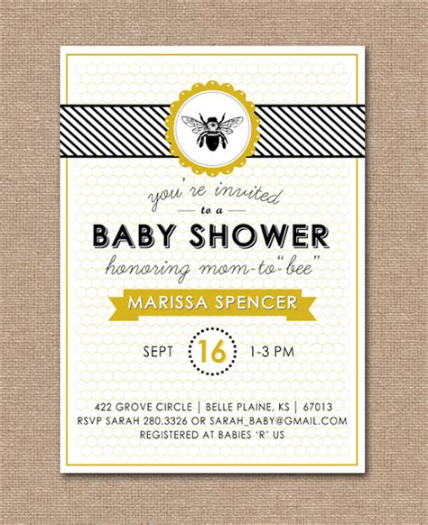 baby shower bee theme j design new to bee baby shower kit