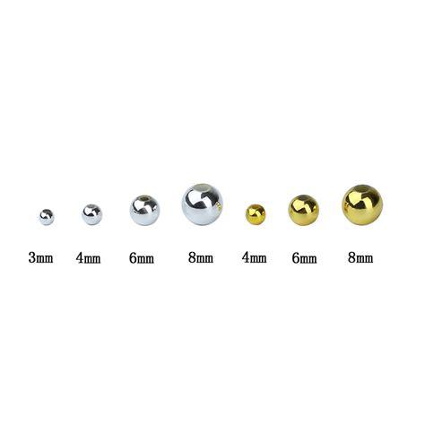 Gold Silver Color Round Hole Beads 1000pcs/lot Wholesale