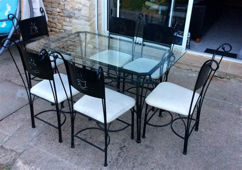 table de cuisine en fer forgé gallery of fabuleux chaises fer forg achetez table verre
