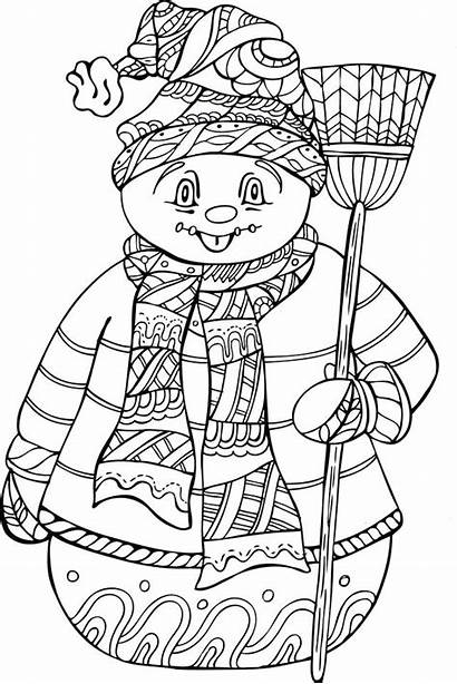 Coloring Pages Weather Cold Winter Printable Colorings