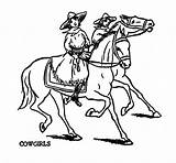 Cowgirl Coloring Pages Cowgirls Cowboys Golf Clipart Clip Cowboy Request Bear Western Thursday Graphics Cliparts Printable Getcolorings Library sketch template