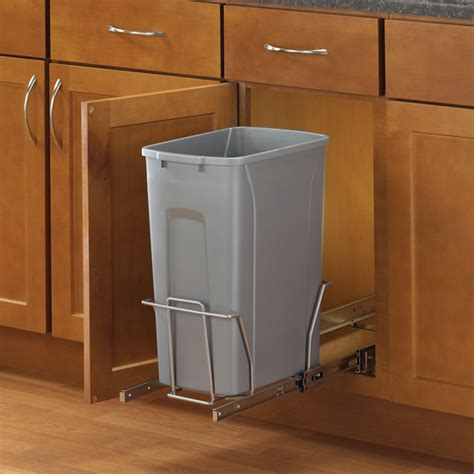 kitchen trash can cabinet poubelle coulissante rona 6327