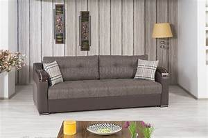 Divan deluxe sofa bed in brown fabric by casamode w options for Divan sofa bed