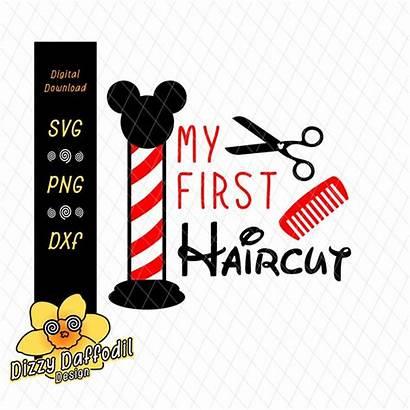 Haircut Clipart Svg Cut 1st Dxf Scrapbook