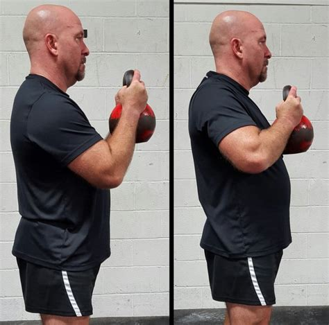 squat goblet iron kettlebell alignment posture clad hacks elbow correct position incorrect left right dragondoor
