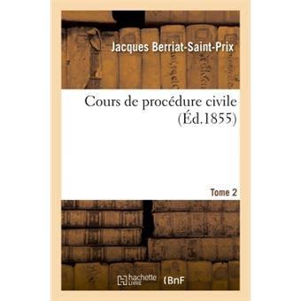 cours de procedure civile broche berriat saint prix