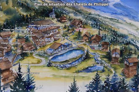 les chalets de philippe chamonix plan situation chalets h 244 tel les chalets de philippe chamonix mont blanc