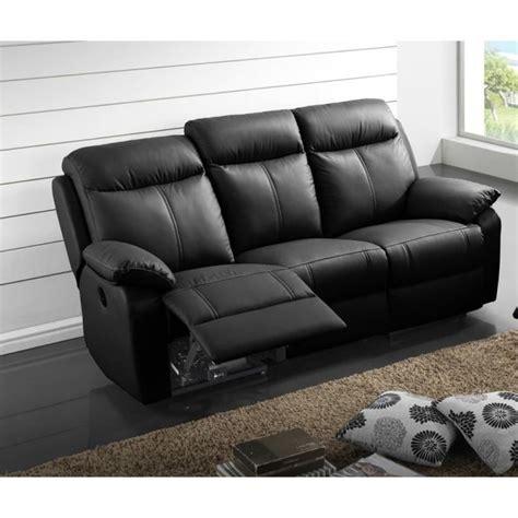 canapé relax electrique 3 places canapé relax électrique 3 places cuir noir vyctoire l