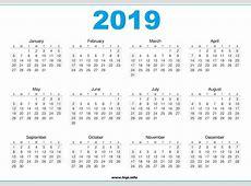 Printable 2019 Calendar Free Printable 2018 Calendar Free