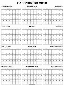 Calendrier Par Mois : calendrier 2018 vierge imprimer mensuel calendrier ~ Dallasstarsshop.com Idées de Décoration