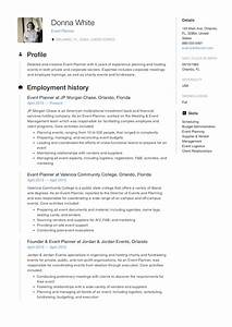 Event Planner Career Objective And Career Summary Guide Event Planner Resume 12 Samples Pdf Word